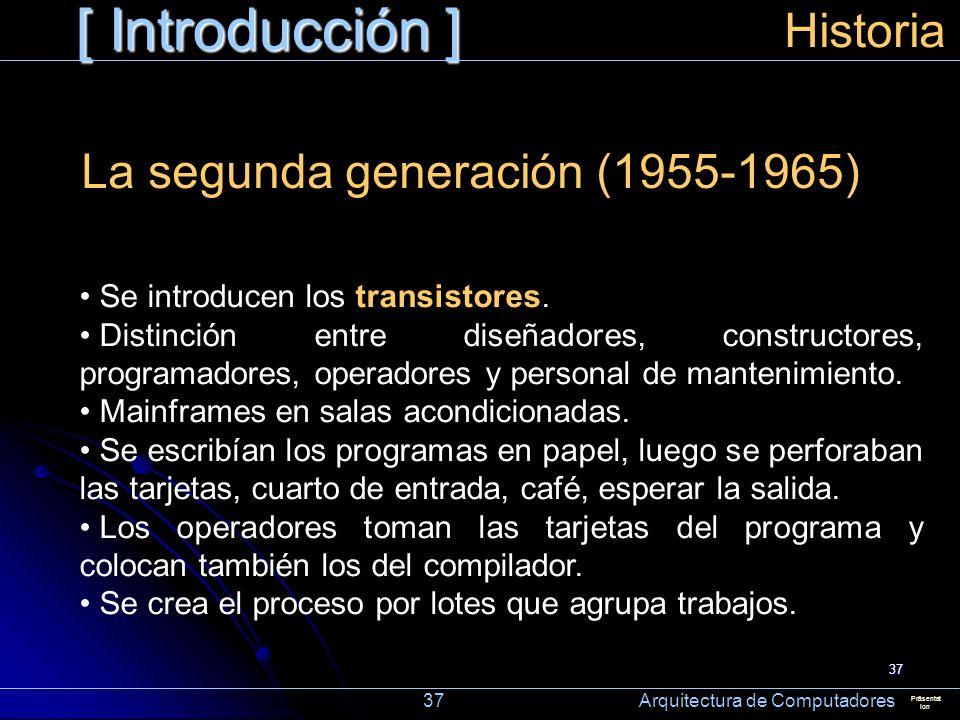 [ Introducción ] Historia La segunda generación (1955-1965)
